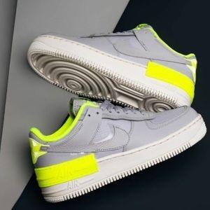 Nike Af1 grey & neon yellow/green